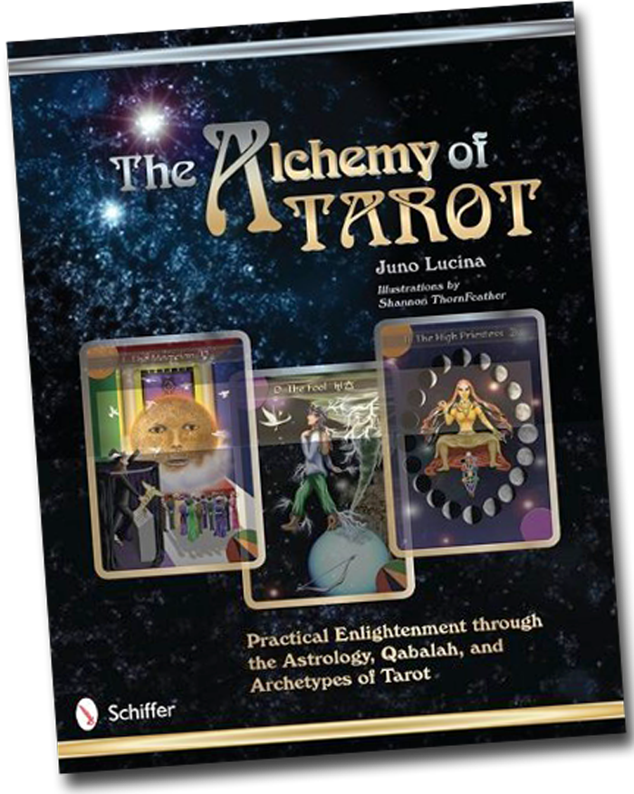 Book cover-The Alchemy of Tarot: Practical Enlightenment through the Astrology, Qaballah and Archtypes of Tarot